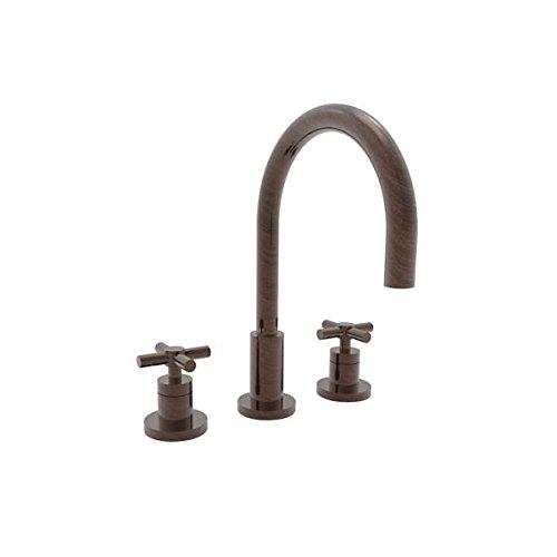 [Newport Brass 990 East Linear Double Handle Widespread Lavatory Faucet with Meta, Venetian Bronze] (Bronze 990 Double Handle)