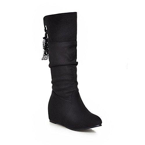 Boots Balamasa Black Bandasje Fløyel Xi Blonder Shi Jenter Inne Høyne CO6qwz8Cr