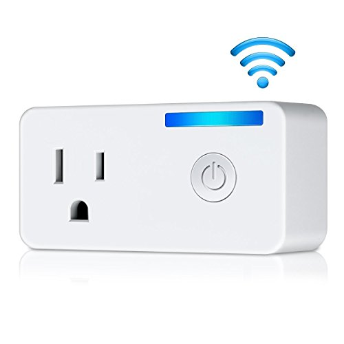 WiFi Smart Plug, EIVOTOR Wireless Socket Mini Outlet with Energy Monitoring Works with Amazon Alexa Echo Dot and Google Assistant, No Hub Required, APP Remote Control your Devices from Anywhere
