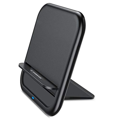 Qi Wireless Charger, VANMASS Fast Ultra-Thin Foldable Wireless Charger, 10W/7.5W Fast Wireless Charging Stand Conpitable with Note 9/S9/S9, Xs MAX/Xs/XR/X/8/8+ and All Qi-Enabled Devices (Black)