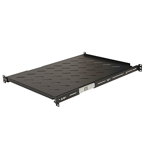 NavePoint Sliding Rack Vented Server Shelf 1U 19