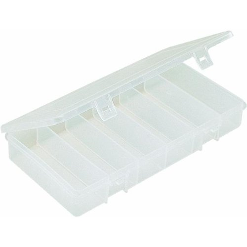 (36) UB6 South Bend 6 Compartment 9″ x 4″ Clear Plastic Utility / Tackle Boxes