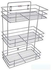 R.H. NAKRANI Creation Stainless Steel Multipurpose Storage Rack/Shelf, Kitchen Rack – Triple 3-Tier Price & Reviews