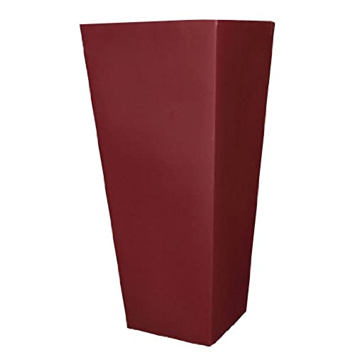 Tall Outdoor Planter Tall outdoor planters amazon tusco products ctu32ob cosmopolitan tall square garden planter 32 inch oxblood workwithnaturefo