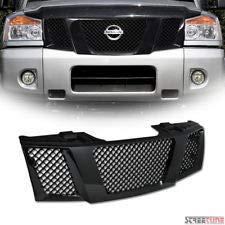 (Gooogo Glossy Black Titan/Armada Bumper Grille Mesh Main Grille For 2004-2015 Nissan Titan/Armada)