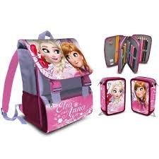 ca13bd28d5 Kit Scuola School Promo Pack Zaino Estensibile + Astuccio 3 Zip Disney  Frozen Anna and Elsa
