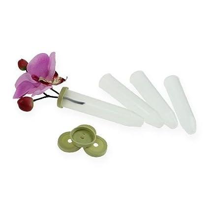 10 Stück Orchideenröhrchen Blumenröhrchen Röhrchen Wasserröhrchen Orchideen NEU