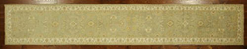 Bh Sun H6056 New Green Chobi Collection 3 x 17 ft. Runner Hand Knotted Wool Floral Area Rug -