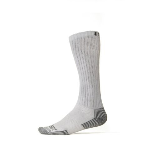 EcoSox Over the Calf Diabetic Socks - 3 Pair White/Gray Size 10-13 by Ecosox