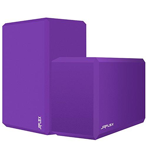 Yoga Block, JEFlex 2-Pack EVA High Density Comfortable Foam Yoga Blocks Exercise Fitness Bricks, Eco-friendly and Lightweight