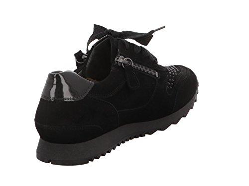 Hassia / Barcelona / Schwarz Leder / Swarovski / Wechselfußbett / Art: 3-301932-0100 / Damen Sneaker Schwarz