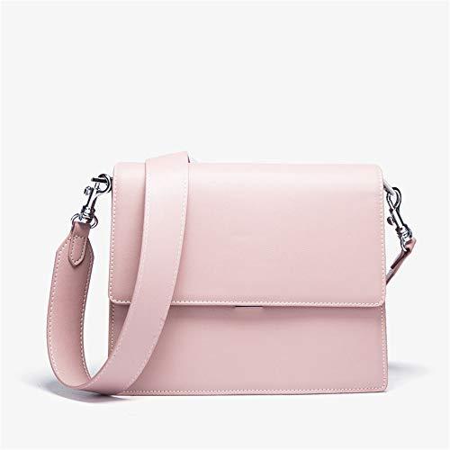 De Europea Bandolera Pink Piel Bolso color Blanco Y Mano Americana Ancha Lbymyb tq7gXwq