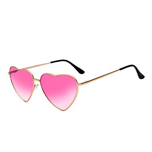 Amor Sol Aleación Corazón Gold Marco Mujer De Corazón Alta TIANLIANG04 Tonos Sexy Sol Pink Vintage Lens Oro Mirrorro De Gafas En Calidad Plata Señoras De Gafas Gradiente G397 De De Forma adq58w