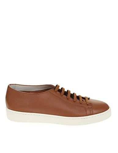 Santoni メンズ MBCN14387BA6CMIAC50 ブラウン 革 運動靴 B07DYGD5N9