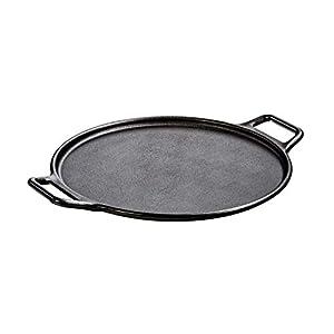 Lodge Pre-Seasoned Cast Iron Baking Pan With Loop Handles, 14″, Black