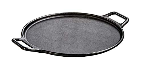 Lodge P14P3 Pro-Logic Cast Iron Griddle Pizza Pan, 14-inch, Black