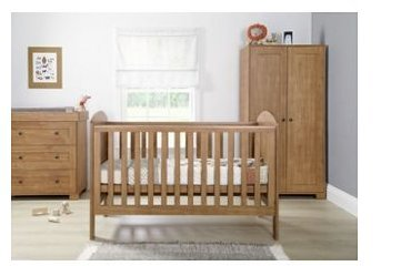 designer fashion 95e9c d5b52 Mamas & Papas Harrow 3 Piece Nursery Set - Dark Oak.: Amazon ...