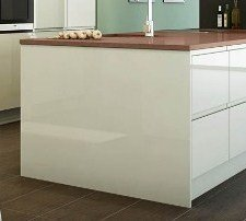 White high gloss kitchen bedroom island end panel 900mm for Kitchen cabinets 900mm high