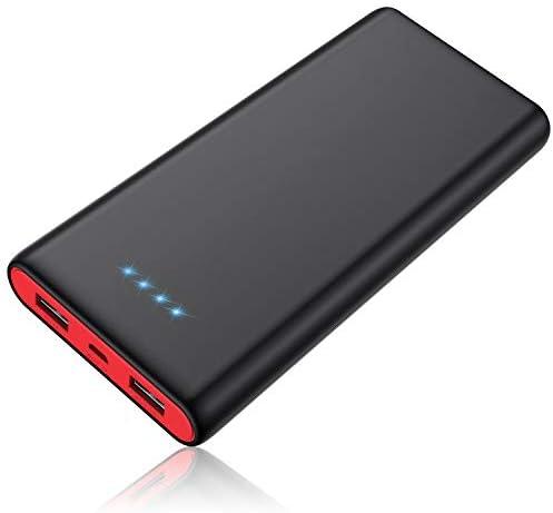 [スポンサー プロダクト]モバイルバッテリー 大容量 26800mAh 【薄型 小型】残量表示 急速充電 2USB出力ポート 携帯充電器 バッテリー Android/その他のスマホ/タブレット対応 PSE認証済み