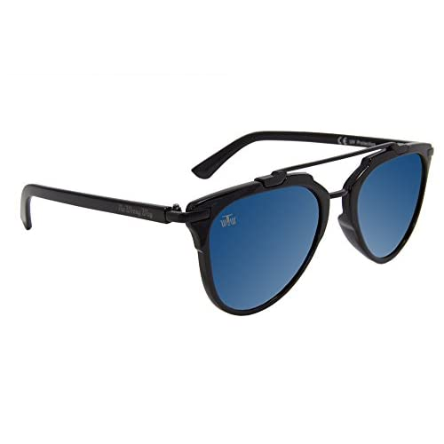 b2563931d0 Gafas de Sol Aviador Estilo Vintage The Wrong Way. Lentes de espejo azules  Cat.