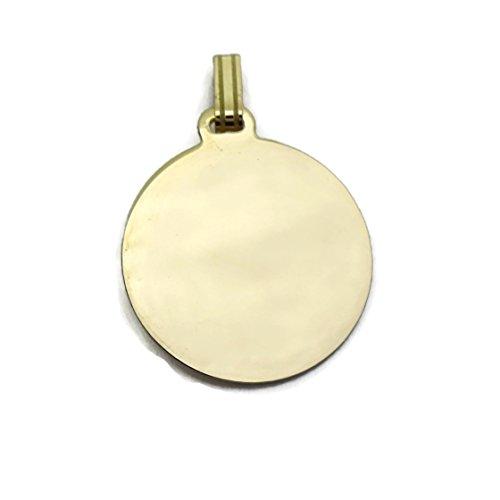 0162913d7cc5 Barato Medalla comunión Virgen niña bicolor oro 18k con oración Ave Maria  ...