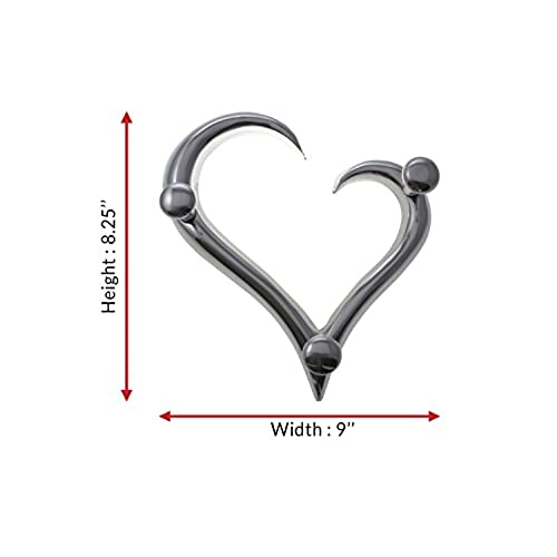Best Modern Style Heart Shaped Decorative Wall Coat Hanger By Comfify |  Hand Cast Aluminum