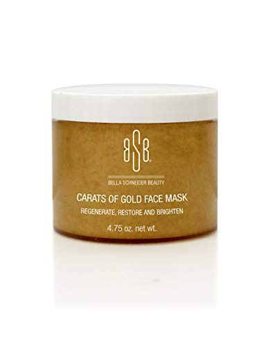 Bella Schneider Beauty 24K Gold Face Mask, Carats of Gold Facial Mask, Rejuvenating Anti-Aging Face Cream For Women, Fine Line Reducer, Clear Acne, Minimizes Pores, Facial Moisturizer for Firm Skin