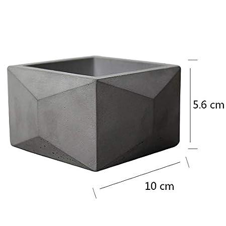 Nicole Silicone Concrete Mold for Flowerpot Geometric Polyhedron Cement Planter Mould Garden Decoration Tools