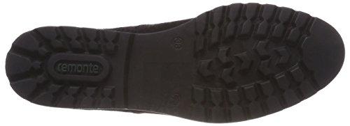 Zapatos D0119 Schwarz Schwarz 02 para Cordones Negro Oxford Mujer Remonte Graphit de a5qad