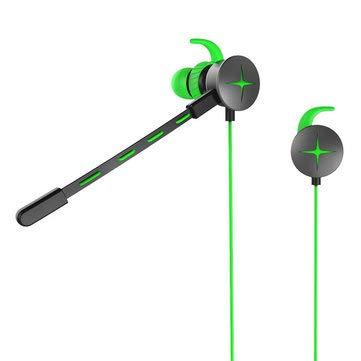 V7 Gaming Earphone Portable 3.5mm Waterproof Stereo Headphone with Pluggable for Phone Laptop - Earphones & Speakers Earbud Headphones - (Green)