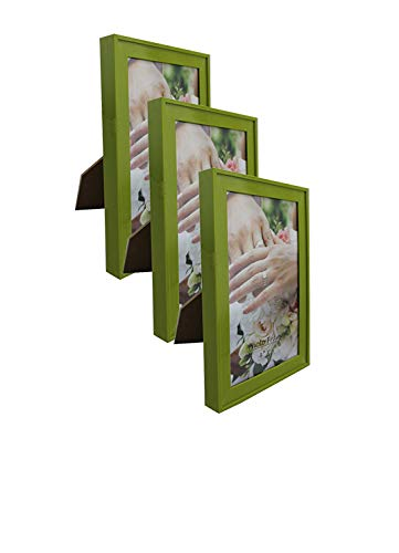 (PP Modern Collection Photo Frame Olive Green Plastic (4