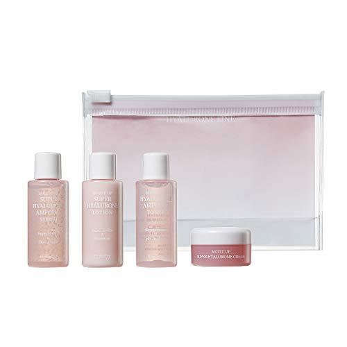 [EC ELISHACOY] Moist Up Hyalurone Travel Kit (Toner/Emusion/Ampoule Serum/Cream 15ml each) - Containing Hyaluronic Acid Long Lasting Moisturizing Skin Care Sample Kit