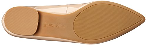 Nine West Women's Onlee Synthetic Pointy Toe Flat Taupe ccvWxKBSXx