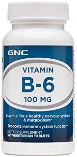GNC Vitamin B6 100 mg 100 Vegetarian Tablets