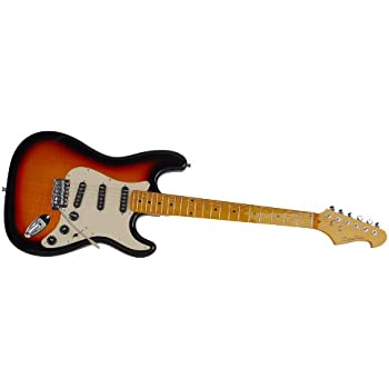spectrum ail 94fm custom pro series st style finish electric guitar with mini amp. Black Bedroom Furniture Sets. Home Design Ideas