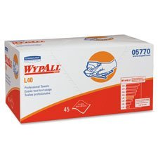 (Kimberly-Clark 05770 L40 Wipers, Pro Towels, 12 x 23, White, 45/Box, 12/Carton)