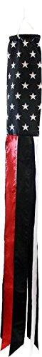 USA Thin Red Line Super Shiny Poly Windsock-FI