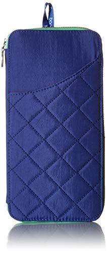 Baggallini RFID Travel Wallet, Royal Blue/Mint (Card Credit Baggallini Holder)