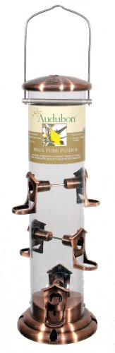 Woodlink NAMEGA Audubon Mega Large Seed Tube Feeder by Woodlink