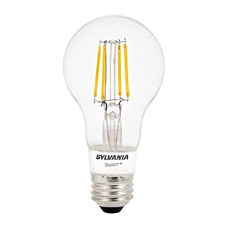 SYLVANIA General Lighting 74979 A19 Filament LED Bulb, Works with Apple HomeKit and Siri Voice Control, No hub Required, 1 Pack, Soft White Dimmable