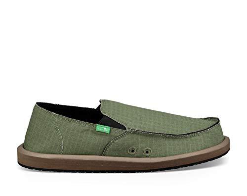 Sanuk Men's Vagabond Chill Slipper, Army Green