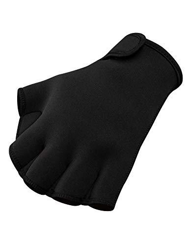FitsT4 Aqua Gloves Webbed Paddle Swim Gloves Fitness Water Aerobics and Water Resistance Training for Men Women Children