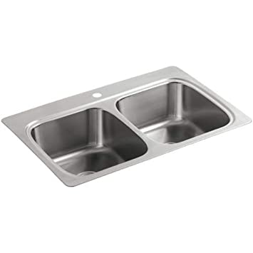 Verse top mount double equal bowl kitchen sink with single faucet verse top mount double equal bowl kitchen sink with single faucet hole workwithnaturefo