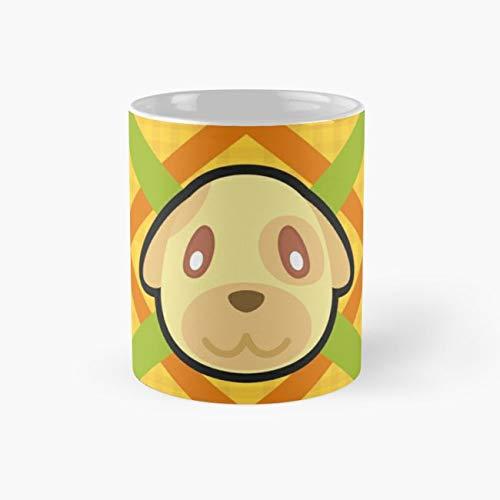 GOLDIE ANIMAL CROSSING Mug, goldie Funny Mugs, 11 Ounce Ceramic Mug, Perfect Novelty Gift Mug, Tea Cups, Funny Coffee Mug 11oz, Tea -