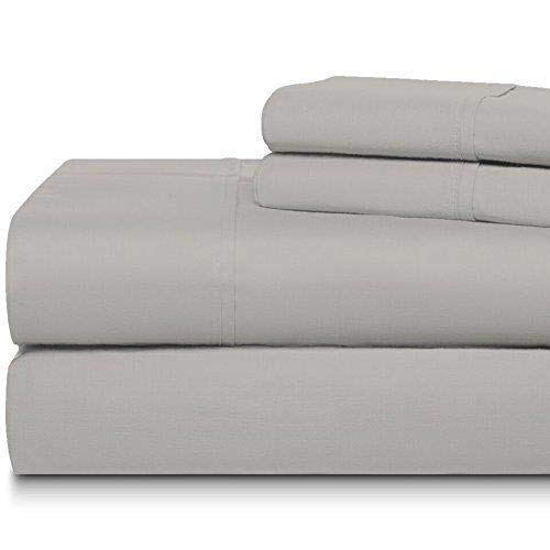 (The Home Legacy 300 Thread Count 100% Egyptian Quality Cotton Sateen Luxury Hotel Sheet Sets-King Deep Pocket to fit 18