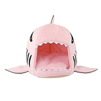 Amazon.com : ATUSY Pet Dog Cat Shark Bed Kennel House Bag ...