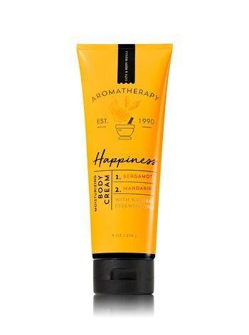 Bath and Body Works Aromatherapy Happiness Bergamot & Mandarin Body Cream. 8 Oz.