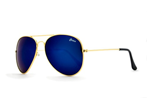 Status Shades Men's Aviator Plastic Maverick: Blue Sky - Status Shades