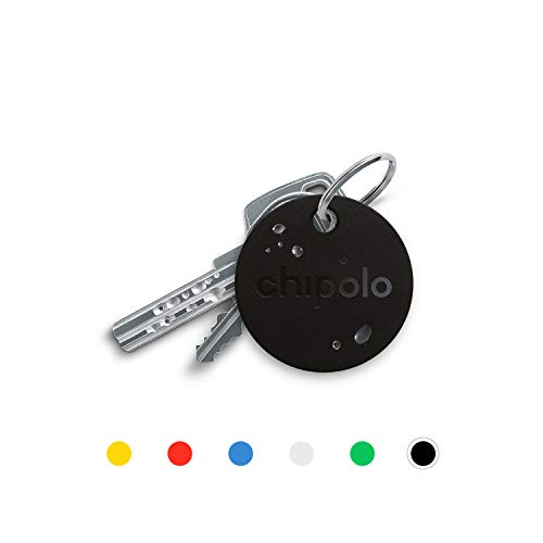 Chipolo Plus Bluetooth Key Finder and Phone Finder - The Loudest (100 dB) - Black