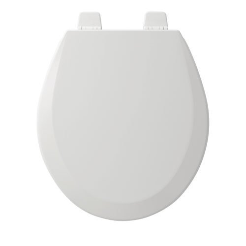 Bemis 500TTT 000 Molded Wood Round STA-TITE Top-Tite Closed Front Adjustable Toilet Seat with Cover